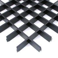 Потолок грильято Cesal Классический Стандарт черный 75х75х40 мм