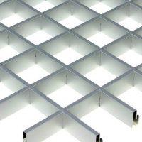 Потолок грильято Cesal Классический Эконом металлик 75х75х40 мм