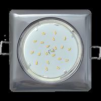 GX53 H4 Square светильник квадратный без рефл. Черный хром 107x41
