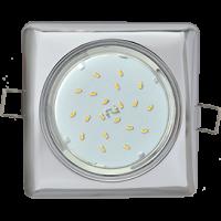 GX53 H4 Square светильник квадратный без рефл. Хром 107x41
