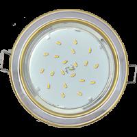 GX53 H4 светильник встраив. без рефл. 2 цв. золото-хром-золото 38х106
