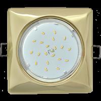 GX53 H4 Square светильник квадратный без рефл. Золото 107x41